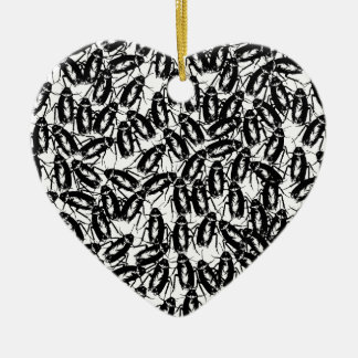 Infested With Cockroaches Ceramic Heart Decoration