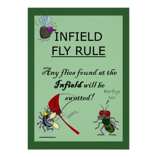 Infield Fly Rule Poster