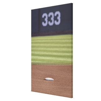 Infield, second base, outfield, and 333 foot canvas print