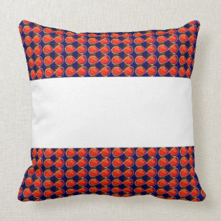 Infiniity Symbol Red BLANK strip add TEXT IMAGE 99 Throw Pillows
