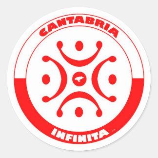 Infinite Cantabria 2012 Classic Round Sticker