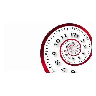 Infinite clock business card templates