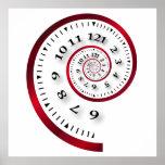 Infinite clock print
