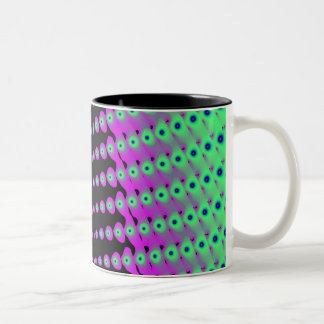 Infinite Dots of Green Fractals Coffee Mug
