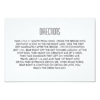 Infinite Initials Wedding Directions Card Mint 9 Cm X 13 Cm Invitation Card