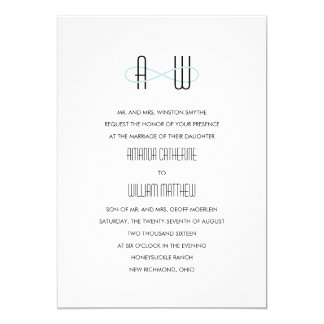 Infinite Initials Wedding Invitations Mint