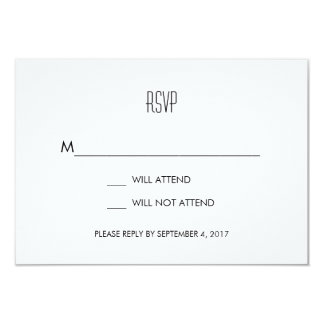 Infinite Initials Wedding RSVP Card Mint 9 Cm X 13 Cm Invitation Card