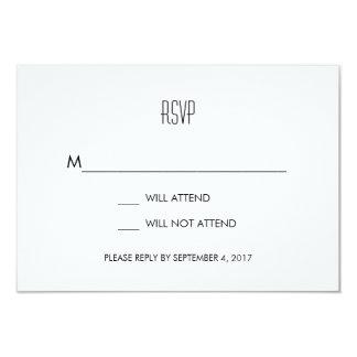 Infinite Initials Wedding RSVP Card Mint 9 Cm X 13 Cm Invitation Card