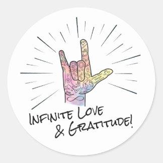 Infinite Love & Gratitude Sticker