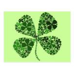 Infinite Luck 4-leaf Clover Postcard
