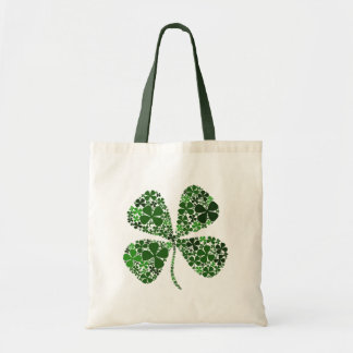 Infinite Luck 4-leaf Clover Tote Bag