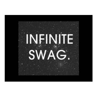 INFINITE SWAG GANGSTER CONFIDENCE ATTITUDE MOTIVAT POSTCARD