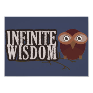 Infinite Wisdom 13 Cm X 18 Cm Invitation Card