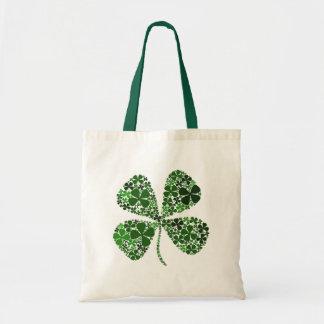 Infinitely Lucky 4-leaf Clover Canvas Bag