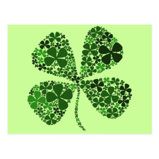 Infinitely Lucky 4-leaf Clover Postcard