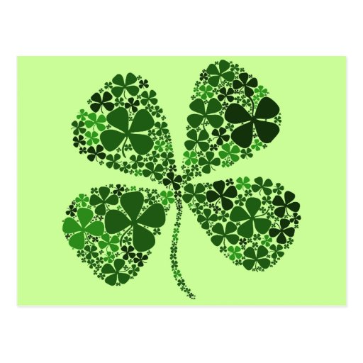 Infinitely Lucky 4-leaf Clover Post Cards