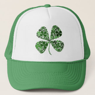 Infinitely Lucky 4-leaf Clover Trucker Hat