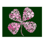 Infinitely Lucky Pink Clover Post Cards