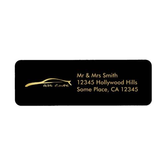 Infiniti G35 Coupe (Gold) Return Address Label