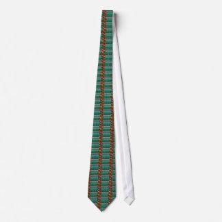 Infinity ART on Emerald Green CRYSTAL Stone Base Tie