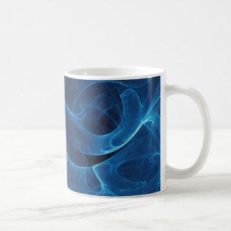 Infinity Blue Basic White Mug