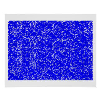 INFINITY Blue Chinese Oriental Decorative Pallet Poster