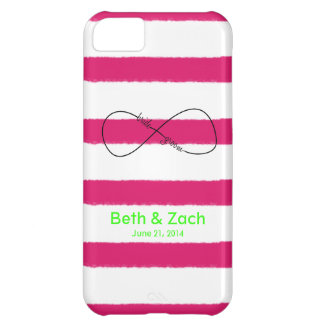 Infinity Bride & Groom Customizable iPhone 5C Case