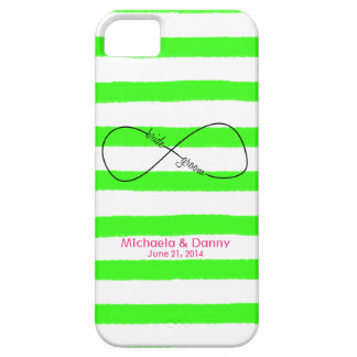 Infinity Bride & Groom Wedding Customizable Barely There iPhone 5 Case