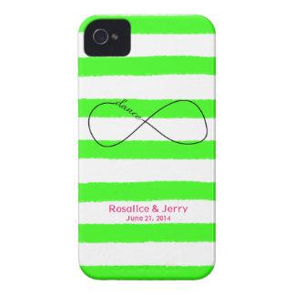 Infinity Bride & Groom Wedding Customizable Case-Mate iPhone 4 Case