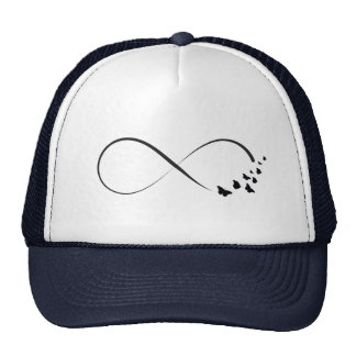 Infinity  butterfly symbol cap