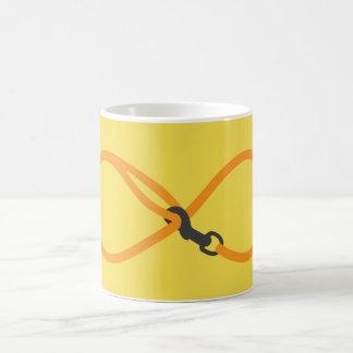 Infinity dog leash coffee mug