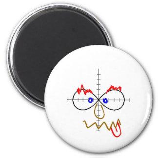 infinity doodle 6 cm round magnet