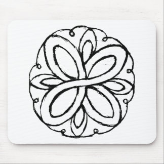 Infinity Flower Mouse Pad