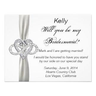 Infinity Heart Bridesmaid Card