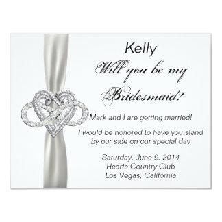 Infinity Heart Bridesmaid Card 11 Cm X 14 Cm Invitation Card