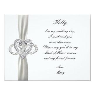 Infinity Heart Maid Of Honor Card 11 Cm X 14 Cm Invitation Card