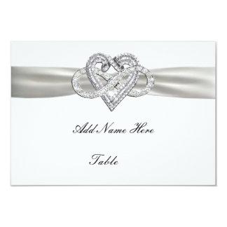 "Infinity Heart Wedding Table Place Card 3.5"" X 5"" Invitation Card"