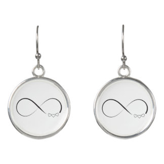 Infinity hearts symbol earrings