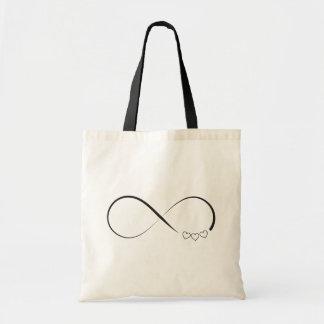 Infinity hearts symbol tote bag