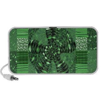 INFINITY Infinite Symbol Green ART gifts love uniq iPhone Speakers