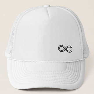 Infinity Logo - White Trucker Hat