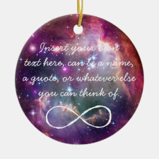 Infinity loop and galaxy space hipster background christmas ornament