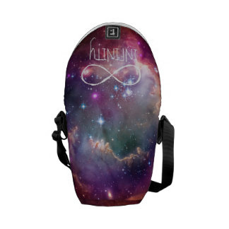 Infinity loop and galaxy space hipster background commuter bag