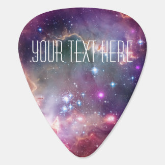 Infinity loop and galaxy space hipster custom plectrum