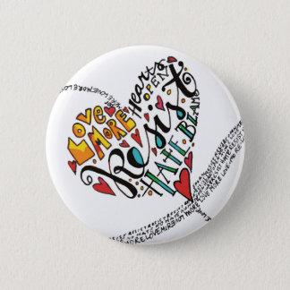 Infinity Love 6 Cm Round Badge