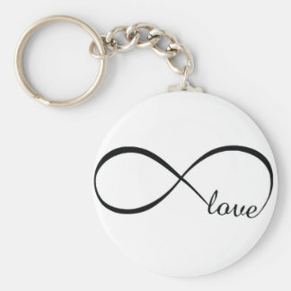 Infinity Love Basic Round Button Key Ring