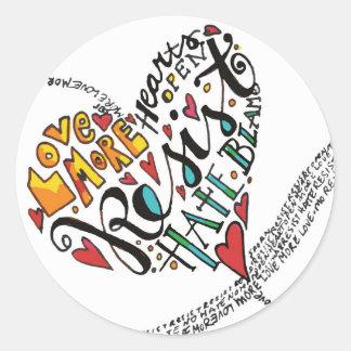 Infinity Love Classic Round Sticker