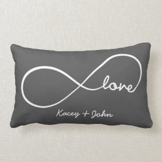 Infinity Love - Dark Grey Lumbar Cushion