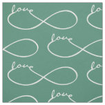 Infinity Love Lemniscate white + your backgr. Fabric