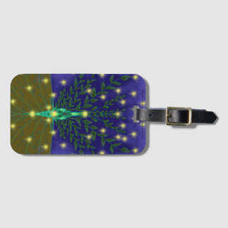 Infinity Luggage Tag w Strap & Biz Card Slot